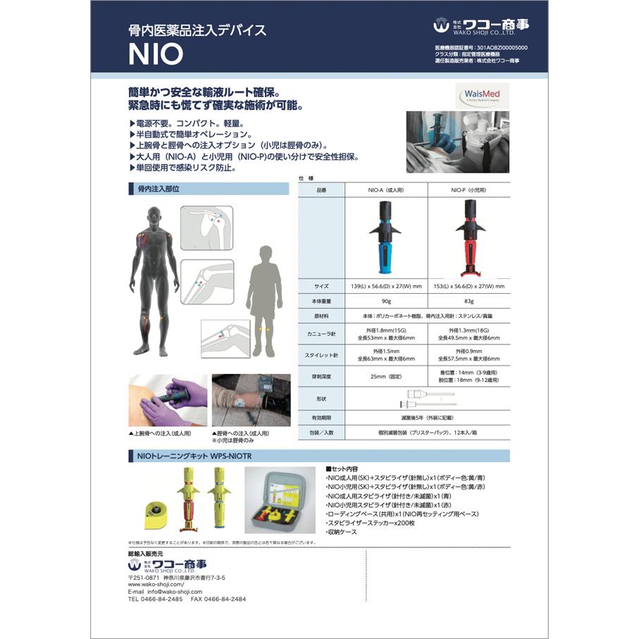 骨内医薬品注入デバイス NIO
